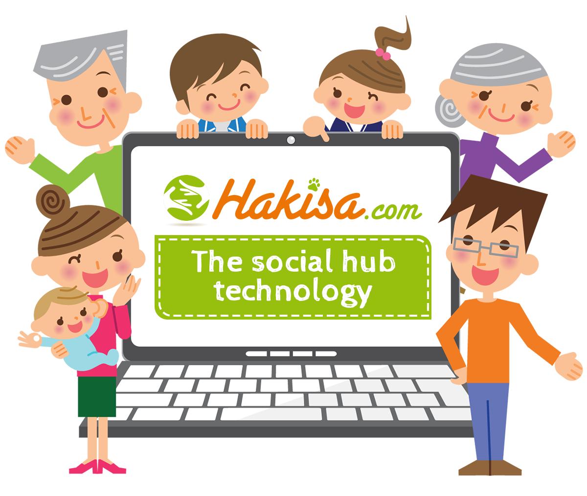 hakisa-social-hub-famille-ecran-tagline