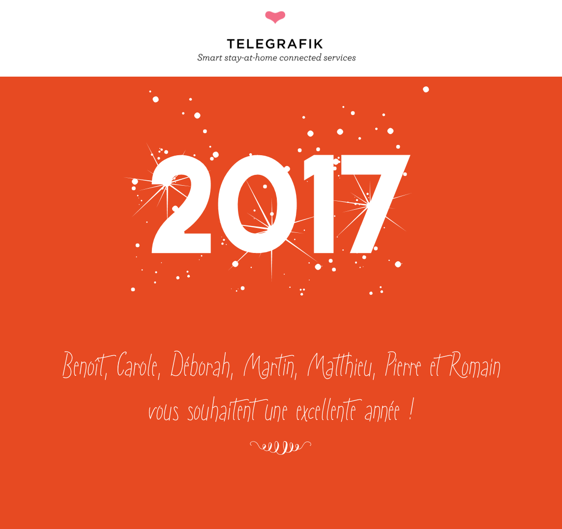 Bonnée année 2017 - TELEGRAFIK